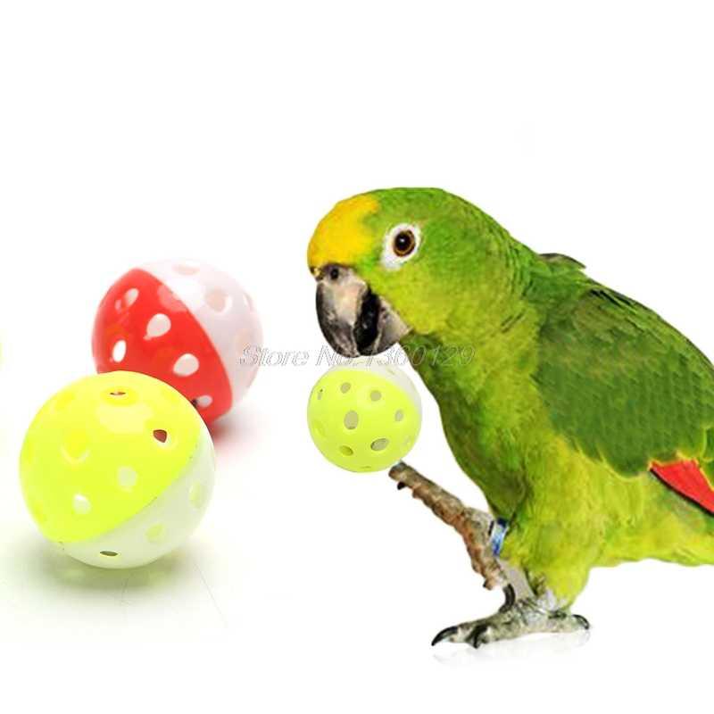 Pet Parrot Toys Bird Hollow Bell Ball For Parakeet Cockatiel Chew Fun Cage Toys 1PC Dropship