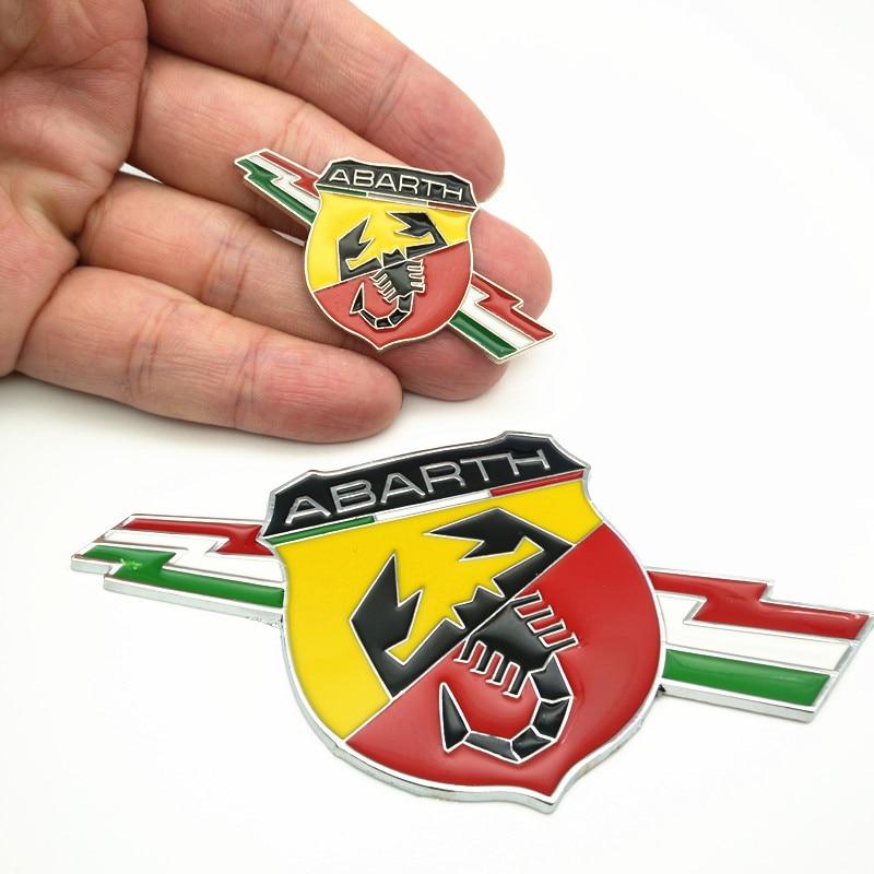 YONGXUN 3 styles 3D Metal Car Abarth  Badge Emblem Decal Sticker Scorpion For All Fiat Abarth Punto 124/125/125/500 Car Styling abarth фиат ритмо запчасть