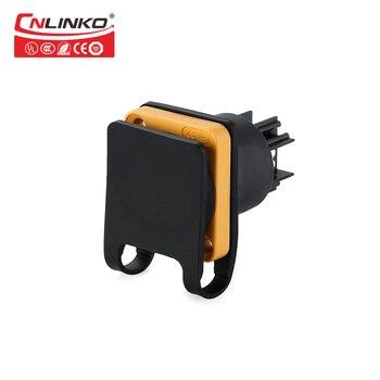 Cnlinko YF24 Pbt البلاستيك قفل السريع عالية الأداء 3 دبوس 20a التوصيل و المقبس للماء موصل كابل الطاقة