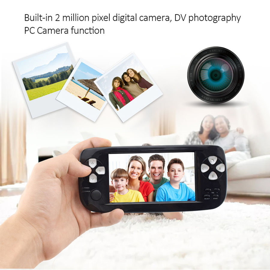 Console de jeu lecteur 4.3 pouces 32 bits 4 GB Portable lecteur de jeu Portable avec caméra vidéo 500 + jeu intérieur 2017 nouveauté