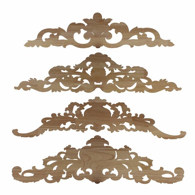 Rectangle Carving Natural Wood Appliques Vintage Home Decor Sadoun Sales International
