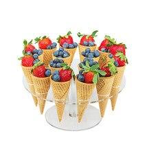 16 отверстий мороженое конфеты акриловый держатель кекс мороженое держатель для Рожков подставка для свадебной вечеринки буфет дисплей кухонный инструмент