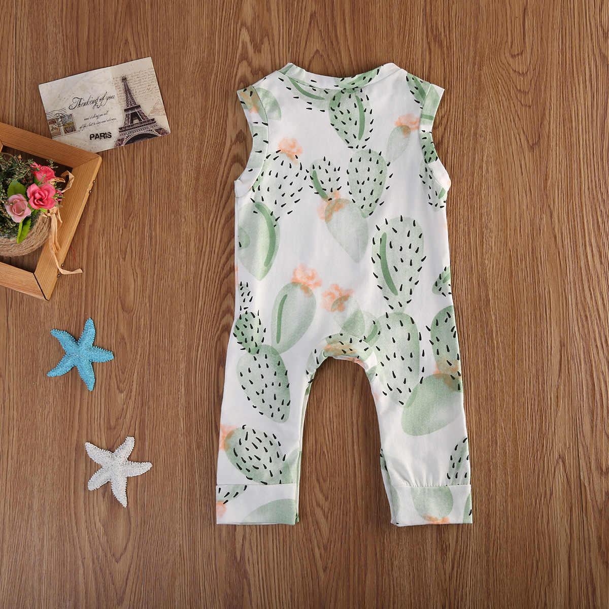 6e408b854dfc ... Summer cactus Baby Clothing Toddler Baby Boy Girl Kids Cotton Floral Romper  Jumpsuit Clothes Outfit ...