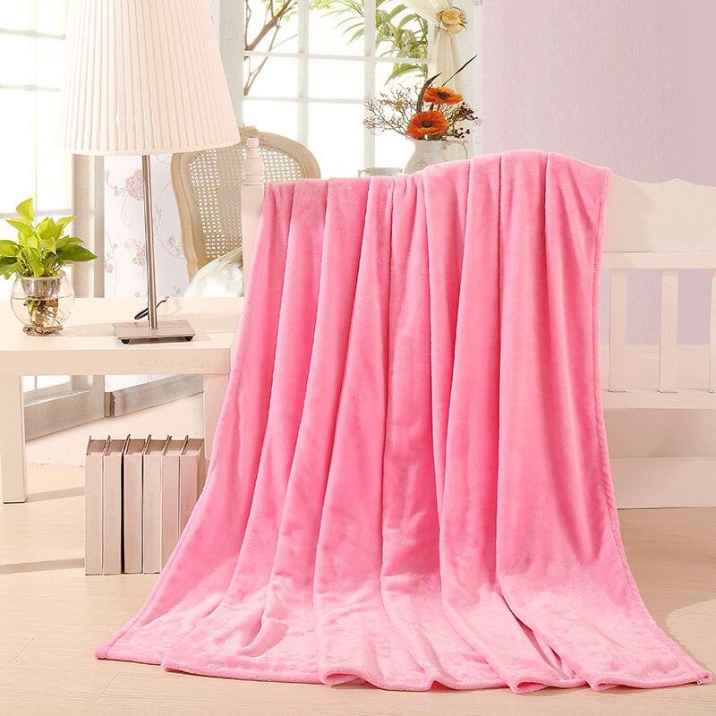Light Pink Soft Comfortable Flannel Blanket for Girls