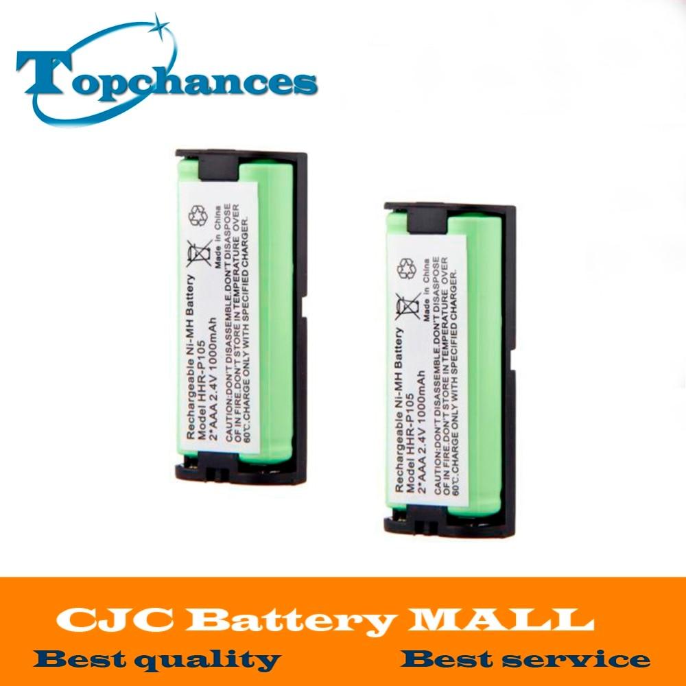 2x1000 мАч домашний телефон Батарея для Panasonic hhrp105a hhr-p105a Uniden bt1009