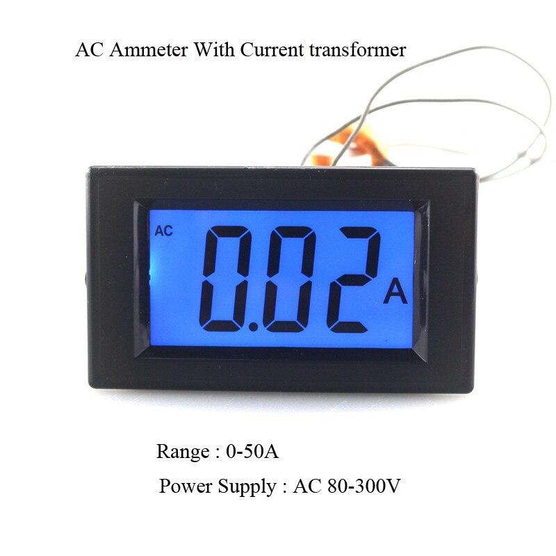 ac amp gauge wiring ac wiring diagrams cars description shipping ac 0 50a lcd display digital current ampere panel gauge meter ammeter digital