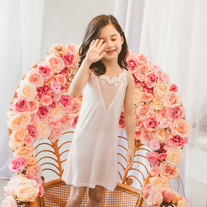 <font><b>Sexy</b></font> <font><b>Girls</b></font> Pajamas Sleep Dress Kids One Piece Nightdress Nightgown Sleepers Children Night Dress Size 13 11 <font><b>10</b></font> 9 8 7 5 4 <font><b>Years</b></font> image