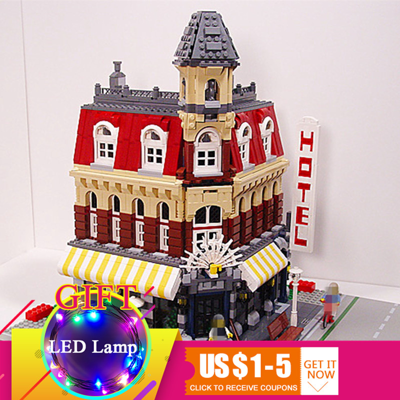 15002 2133Pcs Cafe Corner set Compatible With 10182 Model Educational Building Blocks Toy Gift new lepin 15002 2133pcs cafe corner model building kits blocks kid diy educational toy children day gift brinquedos 10182