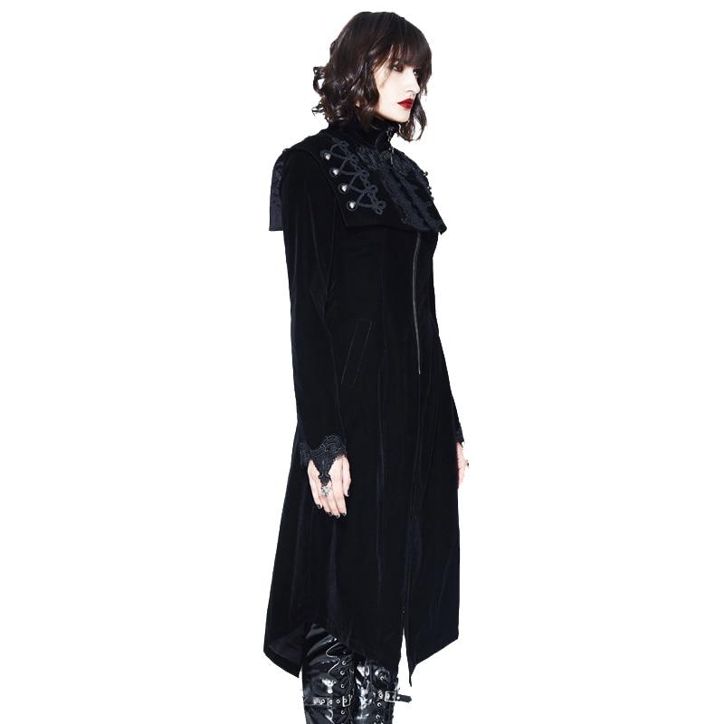 Palace Gilet 2018 Manteaux red Automne Black Vintage Femmes Gothique Sans Arrivée Manteau Nouvelle Court Hiver Manches Rouge Long Noir ZqrZ1O