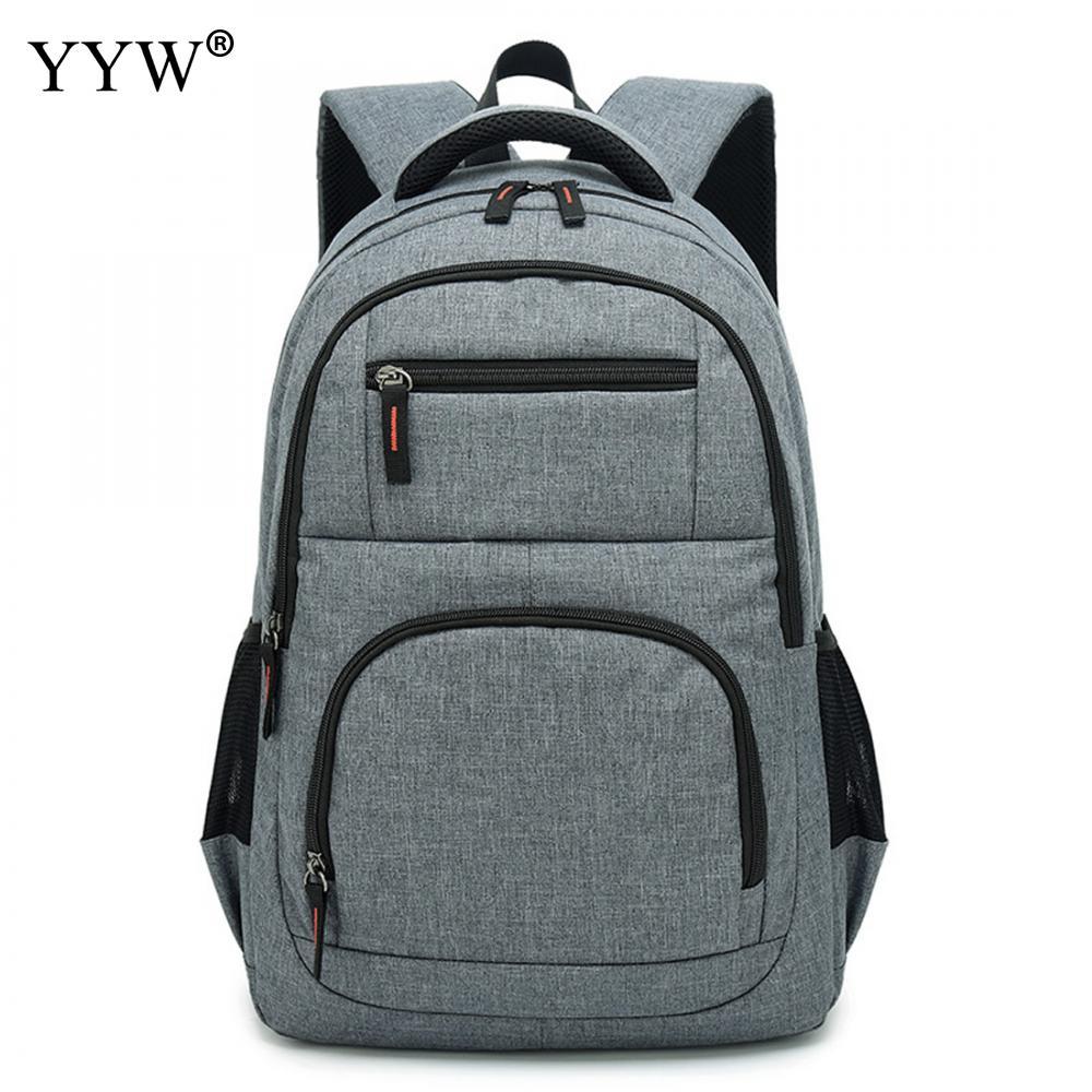 USB téléphone sac à dos hommes sac à dos pour ordinateur portable en toile grand voyage sacs d'école mâle noir gris hommes de haute qualité sacs à livres simples - 6