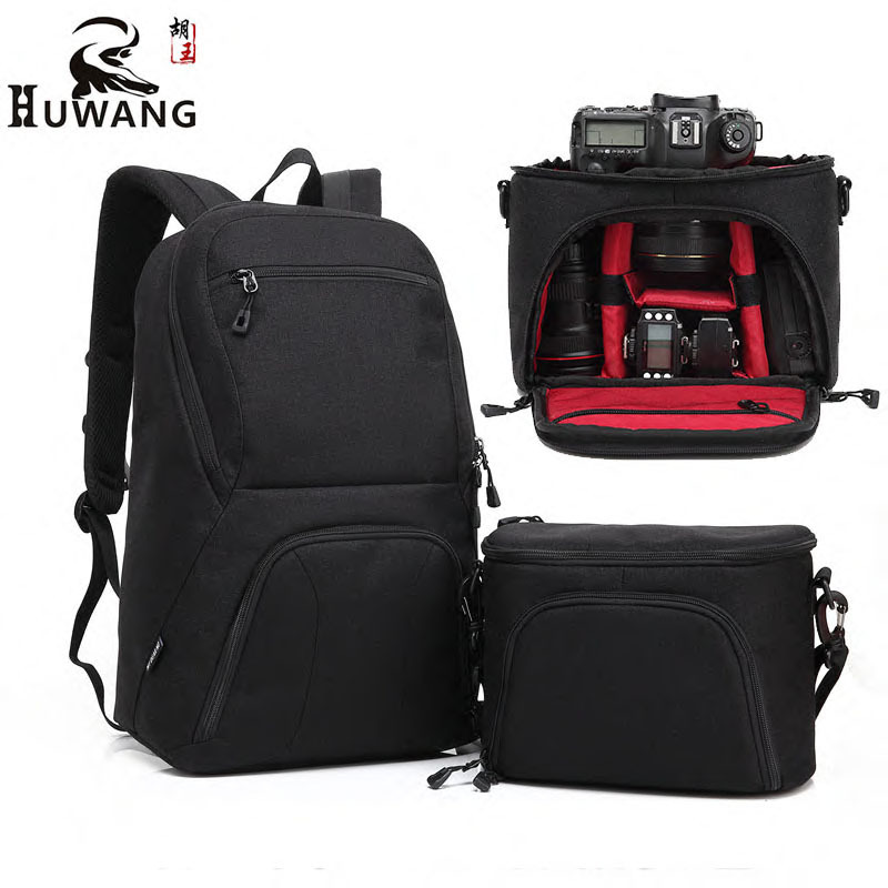 HUWANG Camera Bag Large Capacity Combinable Travelling Camera Bag Anti-theif Digital Camera Backpack Lens Bag for Nikon Canon