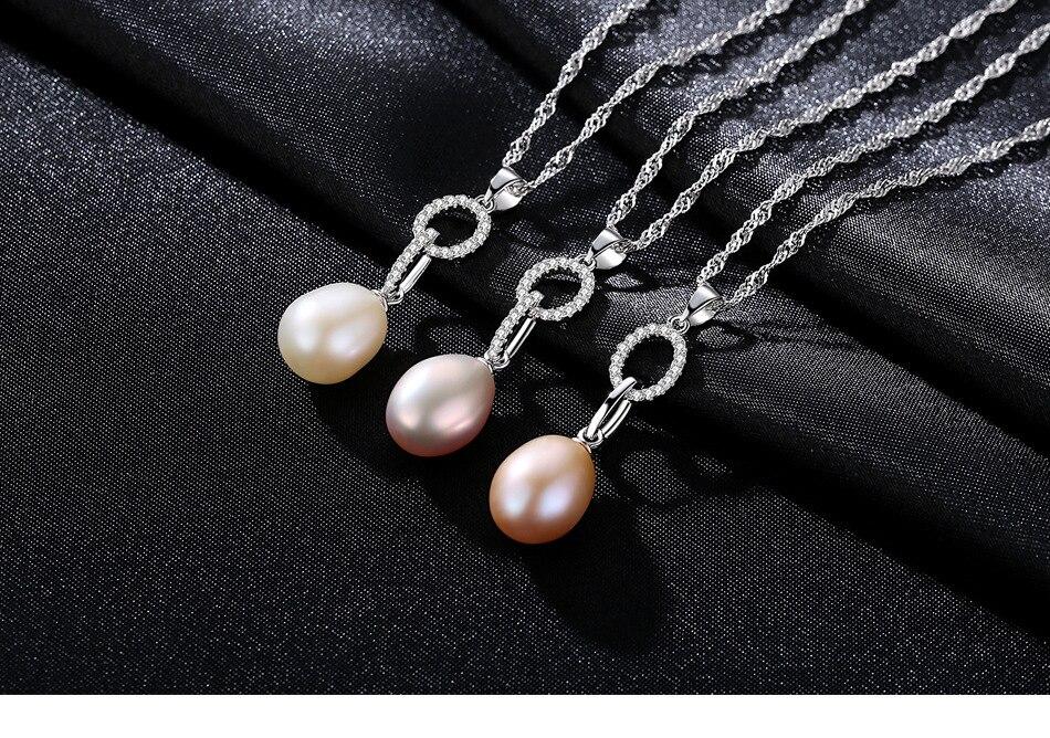 925 sterling collier en argent pendentif zircon perle accessoires GS09