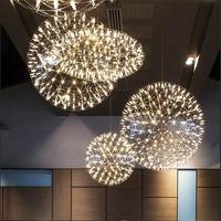 Modern Loft Spark Ball LED Pendant Lamp Fixture Hanglamp LED Firework Suspension Lustres For Hotel Hall