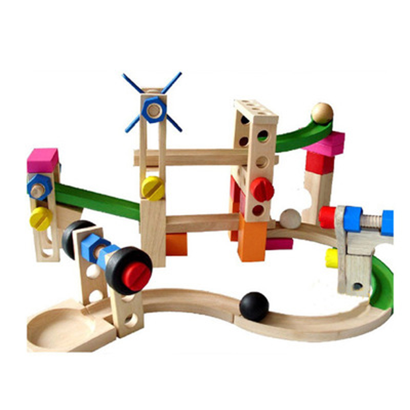Wooden Childrens Educational Nut Disassembly Combination Wooden Assembled Roller Coaster Traffic Track Building Blocks  ToysWooden Childrens Educational Nut Disassembly Combination Wooden Assembled Roller Coaster Traffic Track Building Blocks  Toys