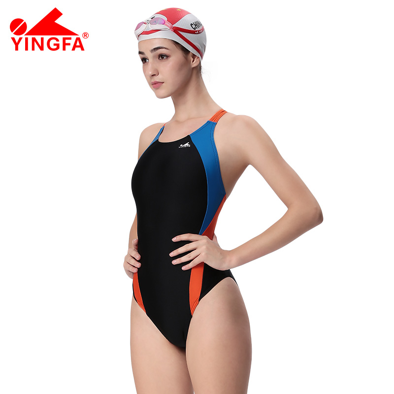 YINGFA FINA One Piece Swimwear Womens professional Swim Sport Swimsuit Quick Dry Bathing Suit Female Racing Competitio Bodysuits phinikiss printed racing swimwear large size one piece suit professional swimsuit sport bathing suit competition 2016 triathlon