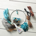 Handmade Dream catcher with Feathers DIY Material for Friends and family