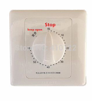 60 Minutes Kitchen Timer Mechanical Time Switch Relay Socket 20pcs/lot