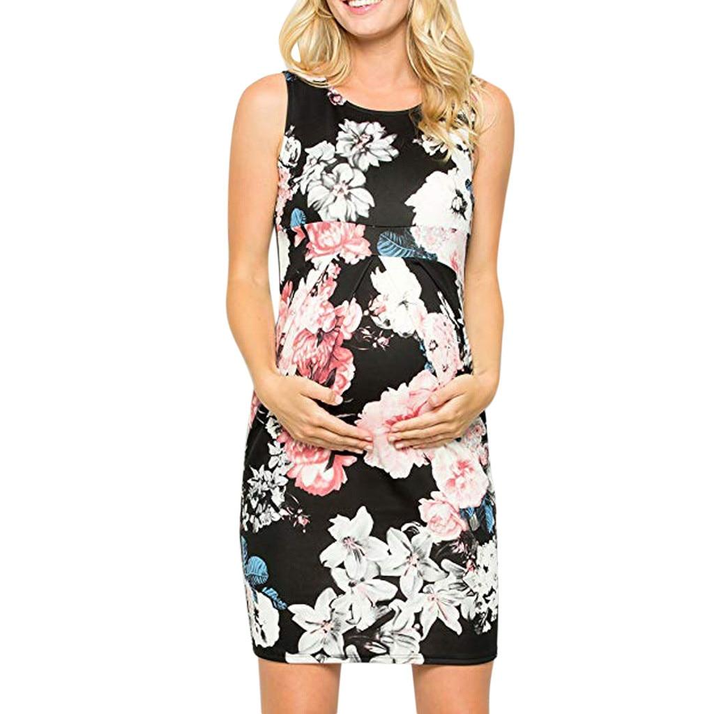"Pregnant Womens /""Hi Baby/"" Short Dress Maternity Summer Casual Bodycon Dress UK"
