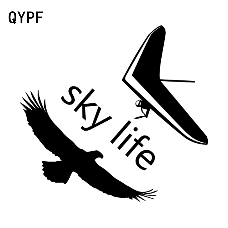Automobiles & Motorcycles Qypf 18cm*16.8cm Sky Life Hang Gliding Pilot Eagle Vinyl Car Window Sticker Decal Black/silver C15-0872 Aesthetic Appearance Exterior Accessories