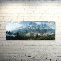 The Witcher 3 Wild Hunt Art Silk Fabric Poster Huge Print 20x53 24x64inch Game Geralt Cirilla
