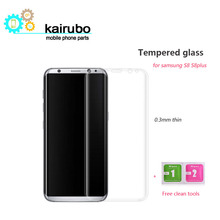9H 0.26mm 3D Full Cover Tempered Glass screen protector for Samsung Galaxy S8 / plus S7 edge coverage glass
