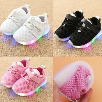 37a5452e3da ... Αθλητικά παπούτσια Sneakers με LED για κορίτσια και αγόρια 2018