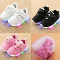 2018 cool net fashion LED lighting boys girls   shoes   Cool glowing sneakers children high quality hot sales baby kids   shoes