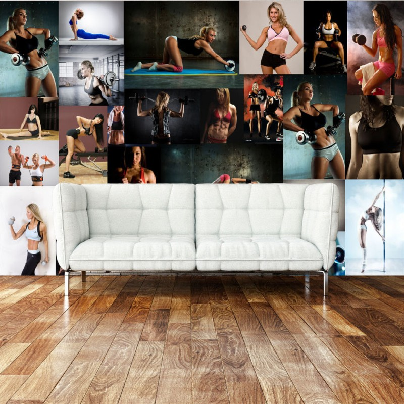photo wallpaper custom wallpaper Modern style sexy beauty bar gym Sports club background wall wallpaper mural