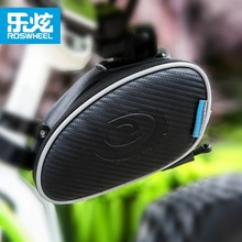 ROSWHEEL Bicycle Saddle Seat Bag MTB Mountain Road Cycling Bike Rear Seat Tail Bag Pouch  Storage Outdoor Bicycle Accessories