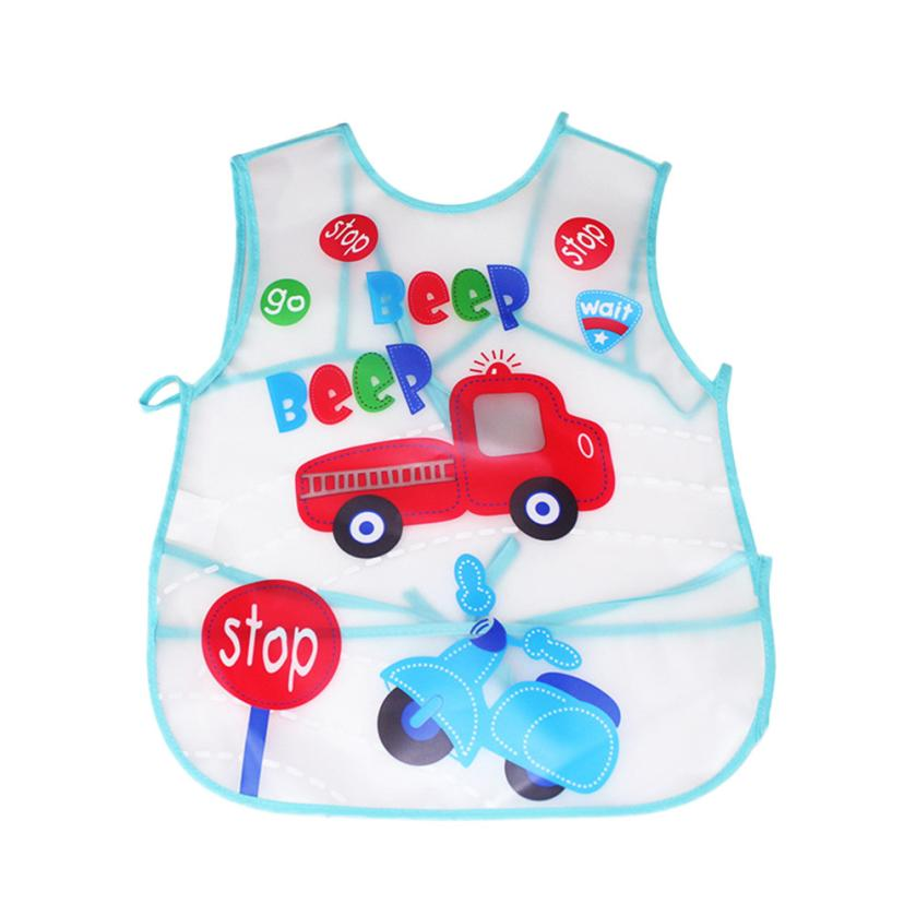 BMF TELOTUNY Fashion Baby Toddler Kids Boys Girls Dot Cartoon Waterproof Feeding Apron S ...