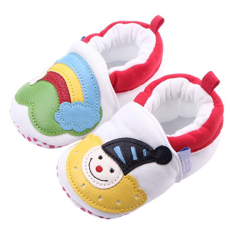 Christmas Rainbow Cartoon Infant Baby Shoes Fashion Toddler Boy Girl Soft Sole Non Slip First Walker Shoes Cute Baby Sneakers