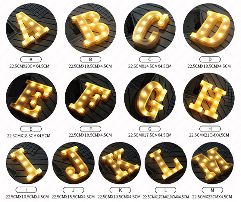 HTB1A7CdhHZnBKNjSZFhq6A.oXXaw Luminous LED Letter Night Light English Alphabet Number Lamp Wedding Party Decoration Christmas Home Decoration Accessories