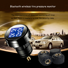 TPMS Car Tyre Pressure Monitoring System with 4 Internal External Sensors LCD Display Cigarette Lighter DIY Tire Pressure Monito