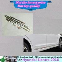 Hyunda1 Elantra Avante 2016 Car Styling Cover Detector Stainless Steel Side Door Body Trim Stick Strip