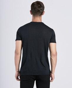 Image 4 - Мужская футболка из 2019 мериносовой шерсти, мягкая легкая Влагоотводящая и устойчивая к запаху Спортивная футболка из 100% шерсти, размеры S XL, г/м2