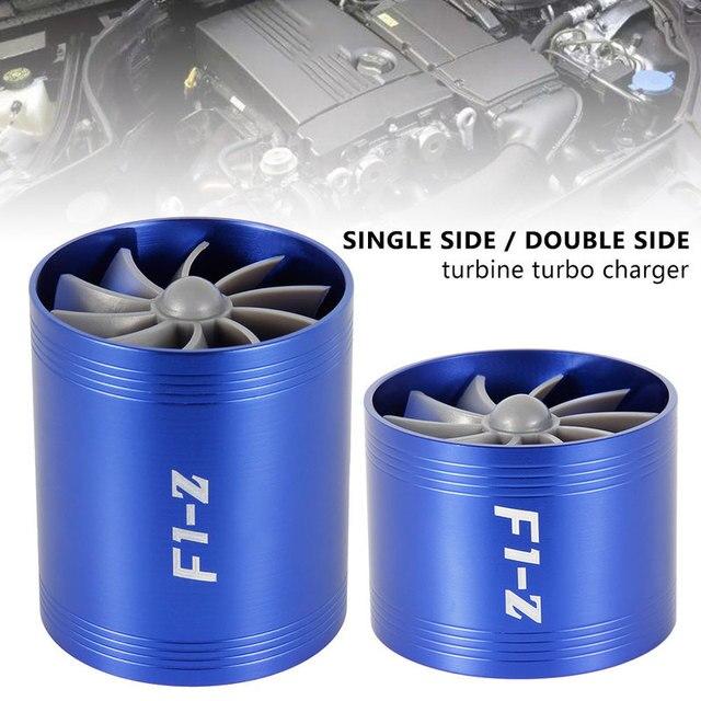 רכב מדחס טורבינת F1-Z טורבו מטען יחיד כפול צריכת מסנן אוויר מאוורר דלק גז Saver ערכת אוטומטי החלפת חלק