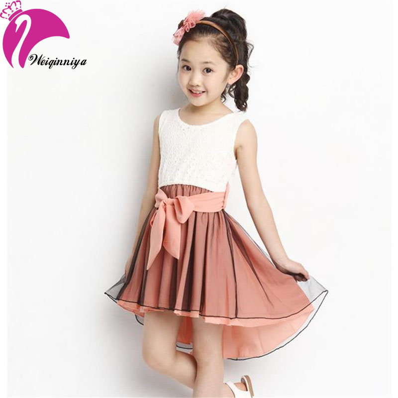 Girl Dress 2017 New Fashion Patchwork Mermaid Sleeveless Lace Kids Dresses For 4-15Y Children Girls Summer Children Clothing Hot girls dresses 2017 hot sell girl fashion