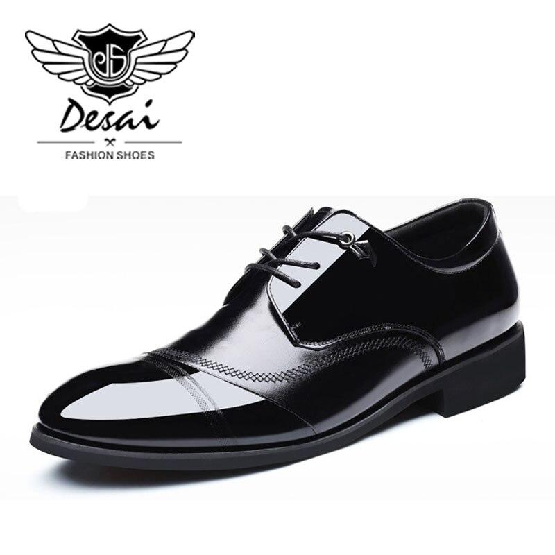DESAI Marke Echtem Leder Formale Schuhe Mann Business Weichen Boden Männer Schuhe Wies Top Schuhe Mode Hochzeit Schuh Frühling Neue-in Oxford-Schuhe aus Schuhe bei  Gruppe 2