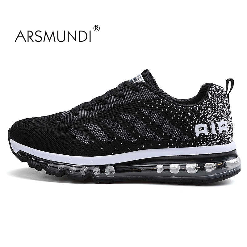 ARSMUNDI Men Running Shoes XR-833-A33 Fall 2017 New Running Shoes Breathable Massage Lace-Up Men Running Shoes High Quality