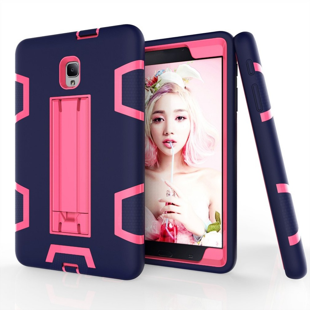 For Samsung Galaxy Tab A 8.0 SM-T380 Heavy Duty Case Protective Cover Stand Holder Shockproof Military Rubber Hard Case
