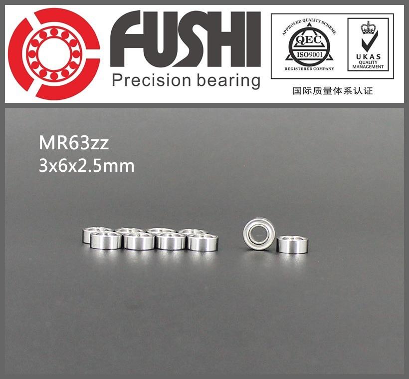 MR63ZZ Bearing ABEC-5 (10PCS) 3*6*2.5 mm Miniature MR63 ZZ Ball Bearings L630ZZ Good Quality 1pcs 71901 71901cd p4 7901 12x24x6 mochu thin walled miniature angular contact bearings speed spindle bearings cnc abec 7