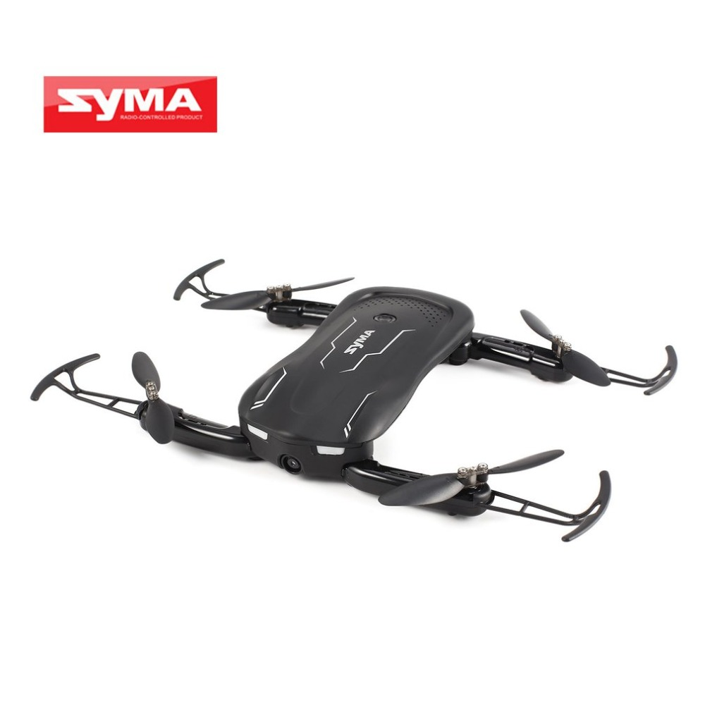 цена на Syma Z1 RC Quadcopter with 720P HD Wifi Camera 2.4G FPV Foldable Smart RC Drone Real-time Altitude Hold Optical Flow Positioning