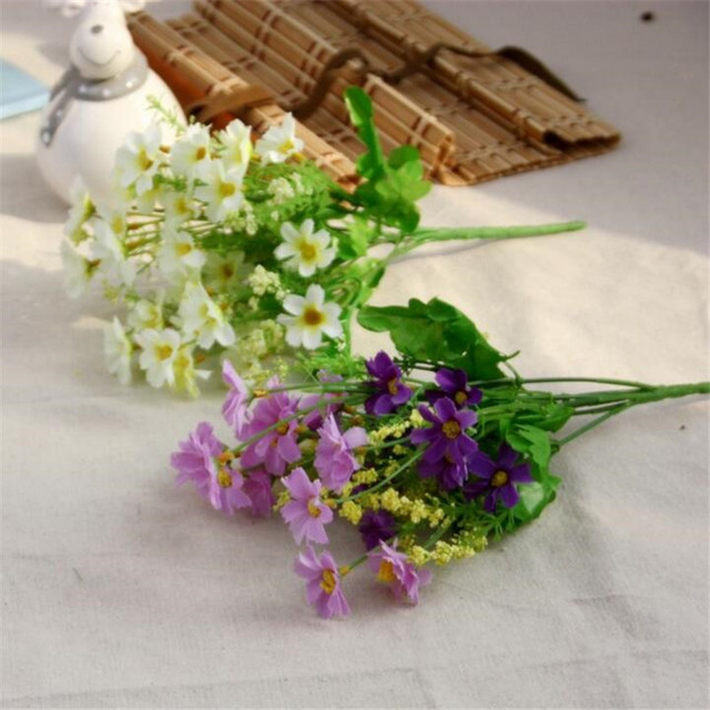 Silk Fake Chrysanthemum Artificial Flower Floral Bouquet Home ...