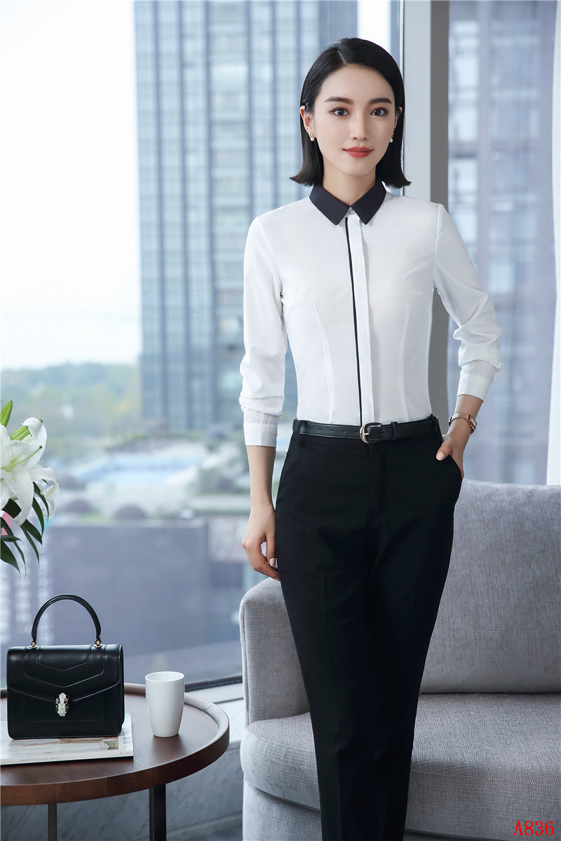 Formal Elegant White OL Styles Pantsuits With 2 Piece Tops And Pants ...