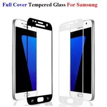 GerTong Full font b Cover b font Tempered Glass For font b Samsung b font Galaxy