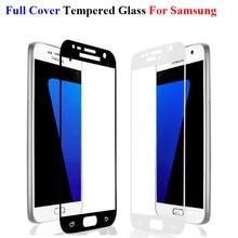 GerTong Completa Tampa de Vidro Temperado Para Samsung Galaxy S6 S7 A7 A5 A3 2016 J3 J5 J7 2017 Prime Nota 3 4 5 Protetor De Tela de Vidro