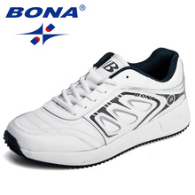 BONA New Popular Style Men Sneakers Microfiber Lace Up Men Casual Shoes