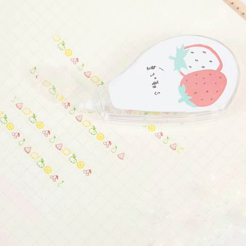 Sweet Strawberry Decorative Lace Correction Tape School Office Supply Student Stationery Gift