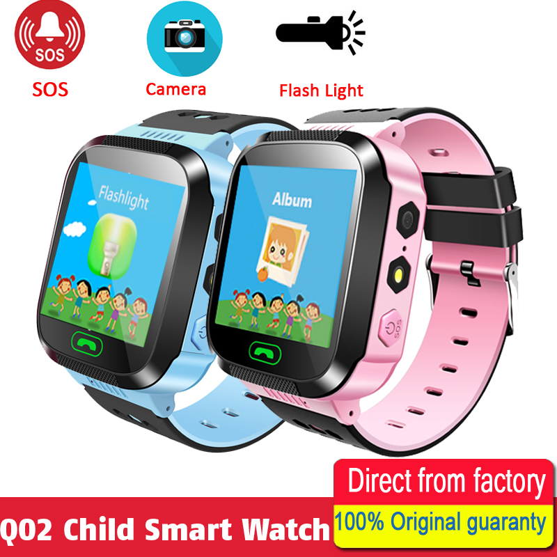 Q02 Smart Watch For Kids Safe LBS Tracking Location Finder SOS SIM Call Baby Wristwatch Alarm Clock Gift For Children alarm clock robot kids gift