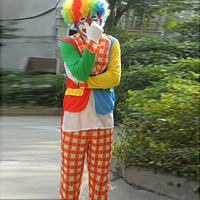 Free shipping adult clown Hallowmas garments for magic show clothing magic props magic tricks